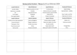 thumbnail of menus du 03 au 28 février 2020