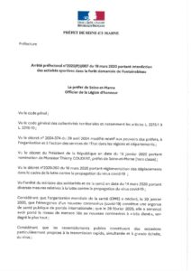thumbnail of ARRETE PREFECTORAL INTERDICTION DES ACTIVITES SPORTIVES FORET DE FONTAINEBLEAU