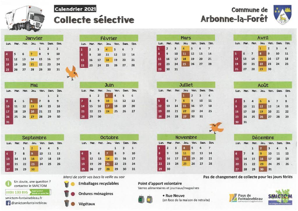 thumbnail of CALENDRIER COLLECTE 2021