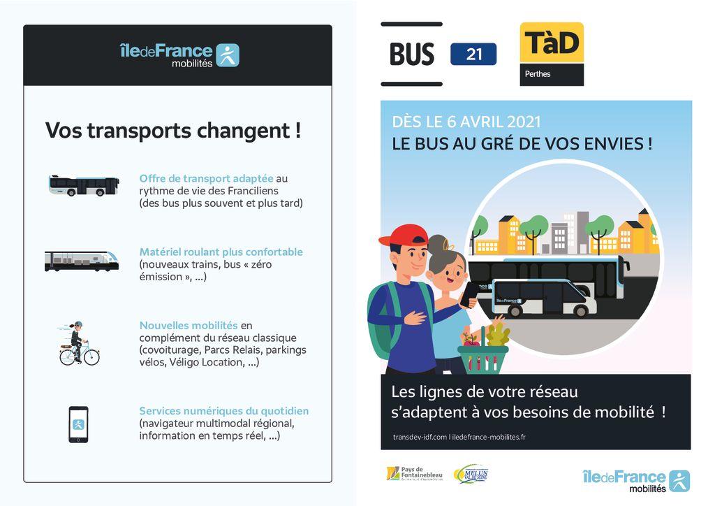 thumbnail of Flyer Ligne 21 TAD secteur Perthes – avril 2021